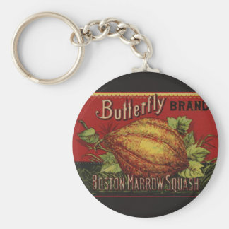 Vintage Squash Country Farm Vegetable Graphic Keychain