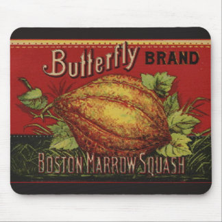 Vintage Squash Country Farm Vegetable Graphic Mouse Pad