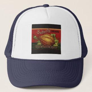 Vintage Squash Label Antique Vegetable Advertising Trucker Hat