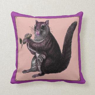 Vintage Squirrel Pillow