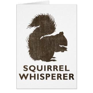 Vintage Squirrel Whisperer Card