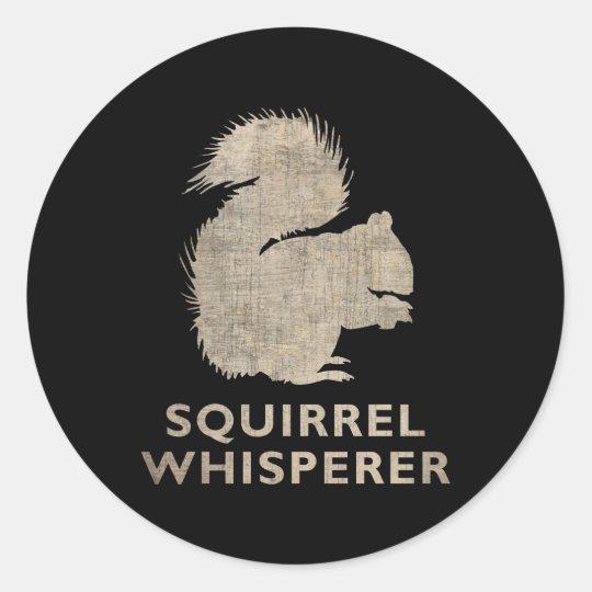 Vintage Squirrel Whisperer Classic Round Sticker