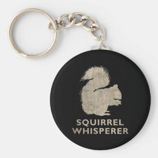 Vintage Squirrel Whisperer Basic Round Button Keychain