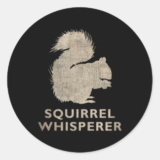 Vintage Squirrel Whisperer Round Sticker