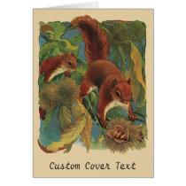 Vintage Squirrels, Forest Creatures, Wild Animals