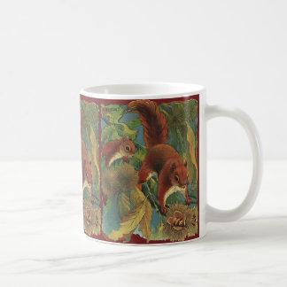 Vintage Squirrels, Forest Creatures, Wild Animals Coffee Mug