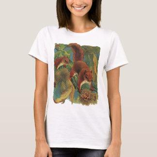 Vintage Squirrels, Forest Creatures, Wild Animals T-Shirt