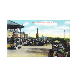 Vintage St-Anne s-on-the-Sea English sea resort Gallery Wrap Canvas
