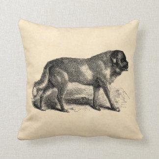 Vintage St. Bernard Dog 1800s Saint Bernards Dogs Throw Pillows