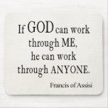 Vintage St Francis de la cita religiosa de dios de Alfombrilla De Raton