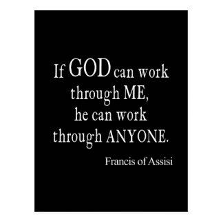 Vintage St Francis de la cita religiosa de dios de Tarjeta Postal