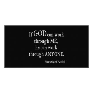 Vintage St. Francis of Assisi God Religious Quote Photo Card