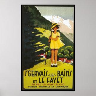 Vintage St. Gervais les Bains Travel Poster