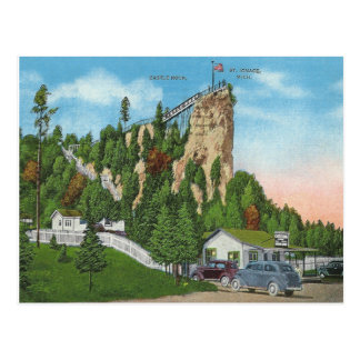 Vintage St. Ignace Michigan Postcard