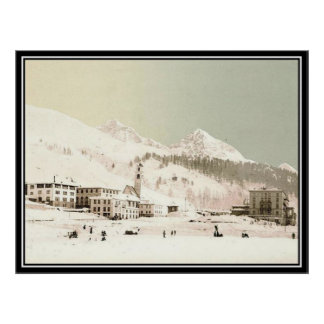 Vintage St-Moritz, Switzerland - Print
