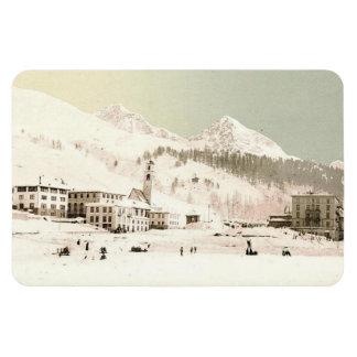 Vintage St-Moritz, Switzerland - Rectangular Photo Magnet