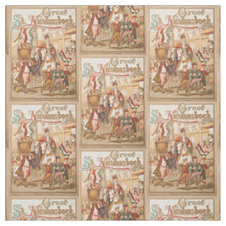 Vintage St. Nicholas Dutch St. Nick Sinterklaas Fabric