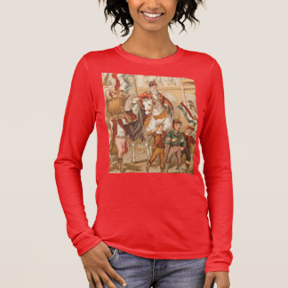 Vintage St. Nicholas Dutch St. Nick Sinterklaas Long Sleeve T-Shirt
