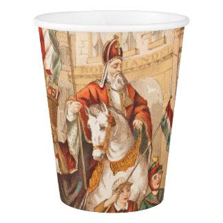 Vintage St. Nicholas Dutch St. Nick Sinterklaas Paper Cup