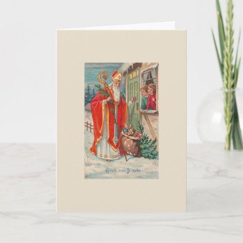 Vintage St Nicholas German Greeting Card