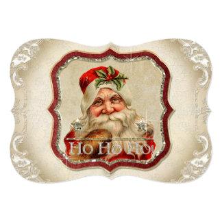 Vintage St. Nicholas Ho Ho Ho Photo Christmas Card