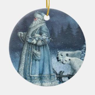 Vintage St. Nick Ceramic Ornament