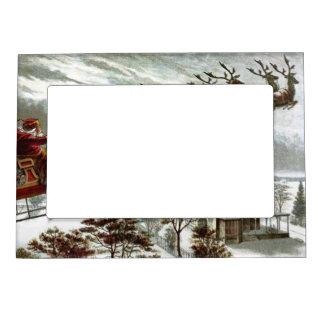 Vintage St. Nick Reindeer Christmas Magnetic Frame