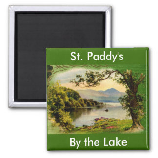 Vintage St. Paddy's By the Lake Fridge Magnet