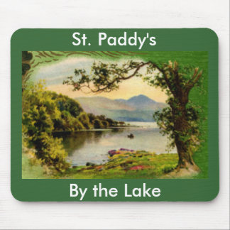 Vintage St. Paddy's By the Lake Mousepad