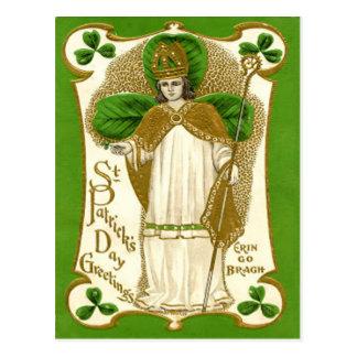 Vintage St Patrick St Patrick's Day Card Post Card