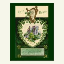 Vintage St. Patrick's Blarney Castle Postcard