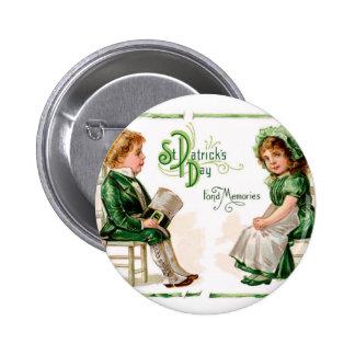 Vintage St Patrick's Dat Button