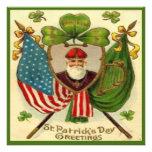 Vintage St Patricks Day 10 Greeting Card Custom Invite