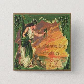 Vintage St Patricks Day 25 Pinback Button