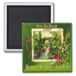 Vintage St Patricks Day 29 2 Inch Square Magnet