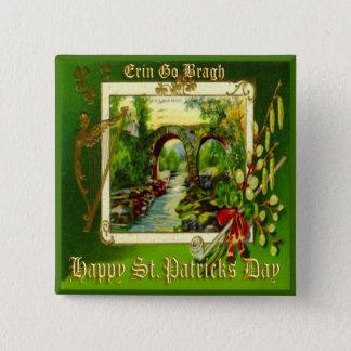 Vintage St Patricks Day 29 Pinback Button