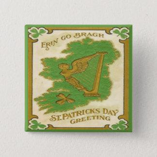 Vintage St Patricks Day 38 Pinback Button