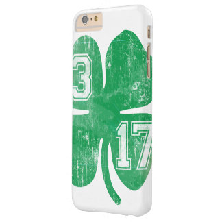 Vintage St. Patrick's Day 3/17 Shamrock Barely There iPhone 6 Plus Case