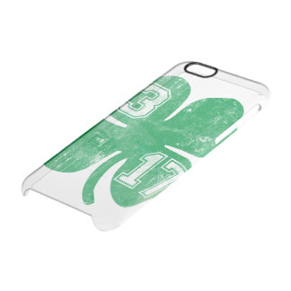Vintage St. Patrick's Day 3/17 Shamrock Clear iPhone 6/6S Case