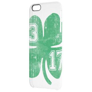 Vintage St. Patrick's Day 3/17 Shamrock Clear iPhone 6 Plus Case