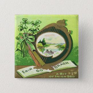 Vintage St Patricks Day 3 Button