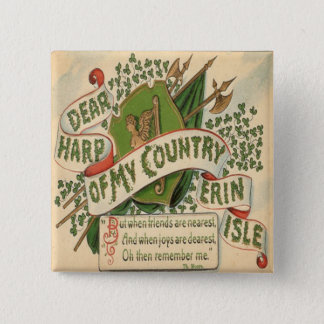 Vintage St Patricks Day 4 Button
