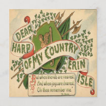 Vintage St Patricks Day 4 Greeting Card