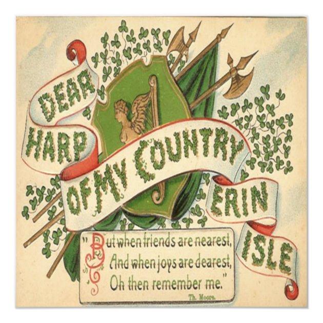 Vintage St Patricks Day 4 Greeting Card