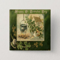 Vintage St Patricks Day 6 Button