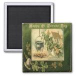 Vintage St Patricks Day 7 2 Inch Square Magnet