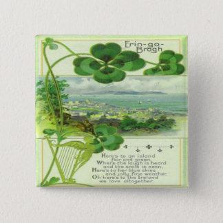 Vintage St Patricks Day 7 Pinback Button