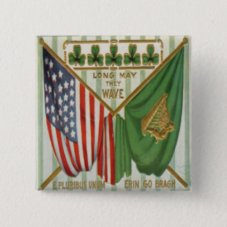 Vintage St Patricks Day 9 Button