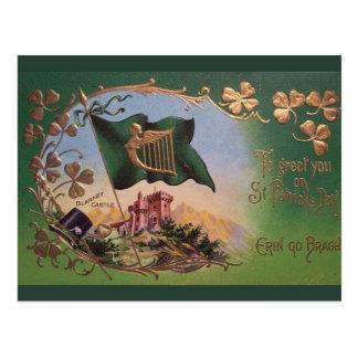 Vintage St. Patrick's Day Blarney Castle Postcard