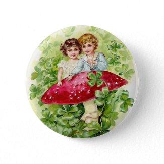 Vintage St. Patrick's Day Button button